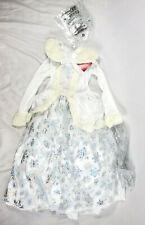 Wondershop Girls Deluxe Glitter Snow Queen Christmas Dress 3pc Costume - S, M, L