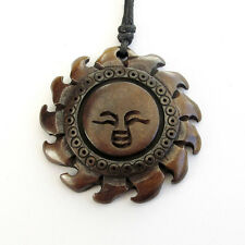 Tibet Bone Happy Face Sun Shape Pendant Jewelry--35mm*35mm