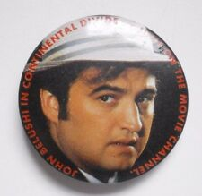 "Vintage Pinback Button JOHN BELUSHI in CONTINENTAL DIVIDE 1.5"" Movie Channel TV"