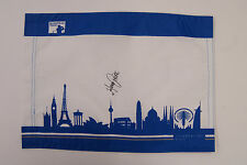 Alvaro Quiros SIGNED AUTOGRAPH European Tour Race to Dubai Golf Flag AFTAL COA