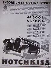 PUBLICITÉ 1931 HOTCHKISS ENCORE UN EFFORT INDUSTRIEL - J.JACQUELIN - ADVERTISING
