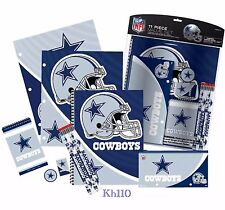 NFL Dallas Cowboys 11pc School Stationary Set Team Logo Study Value Kit