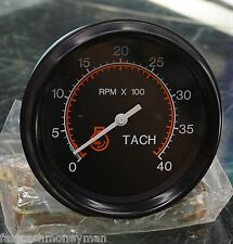 "DATCON 0-4000 RPM 3 3/8"" TACHOMETER GAUGE 12 & 24 VOLT 71076-00 86MM TACH BLACK"