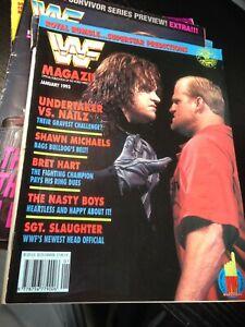 WWF WWE Magazine JANUARY 1993 Undertaker Nailz + Merchandise Catalog