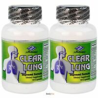 2 x Clear Lung Lung Cleansing Formula 50 Capsules, FRESH Made In USA,Global Ship