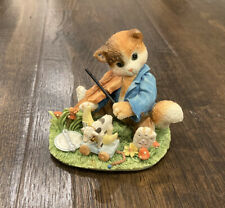 "Calico Kittens by Enesco ""Hey Diddle Diddle the Cat and the Fiddle"" Limited 1995"