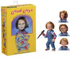 """NECA Child's Play """"CHUCKY"""" Good Guys 4"""" Doll with Bloody Heads & Accessories New"""