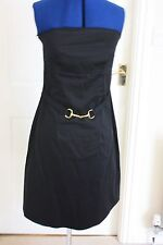 Red Herring size 12 Black strapless cocktail party dress knee length