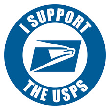 USPS Postal US Post Office - I SUPPORT USPS / 7+ Year Life PREMIUM DECAL STICKER
