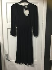 gorgeous black stretch jersey fabric Maternity dress new tags Top Shop size 14
