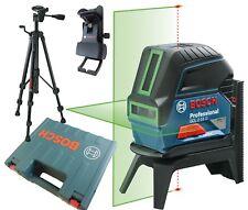 Bosch GCL 2-15 G baulaser láser de línea con trípode bt150 Maleta Pinza de techo