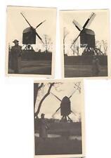 3 alte Fotos Windmühle 30iger Jahre