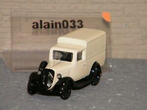 CITROËN U11 Truck 1935 Cream & Black NOREV 1/87 Ref 159926