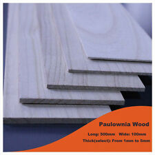 2PC Paulownia Wood Sheet 500x100mm Thick 5mm For Model Maker