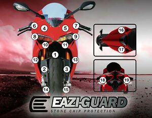 Motorcycle Stone Chip Protection PPF Ducati 1199 Panigale 2012-2017