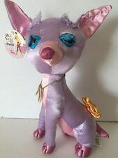 "Fiesta High Society Chihuahua Stuffed Satin Dog Lavender 2006 11"""
