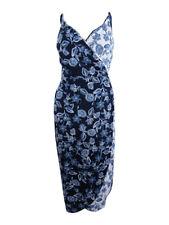 Rachel Roy Women's Floral-Print Wrap Slip Midi Dress 8, Block Print Floral