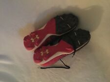 Under Armour Shoes Cleats size 9.5 US  baseball Blk Red White 4501041036
