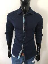Robert Graham Long Sleeve Dark Navy Floral Print Dress Shirt Size XL