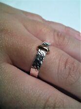anello ispirato ad outlander claire realizzato a mano in argento e oro rosa
