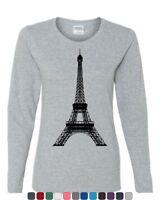 Eiffel Tower Women's Long Sleeve Tee Paris France Sightseeing Travel Europe