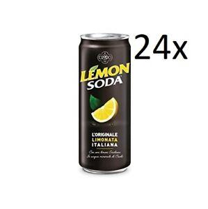 24x Lemonsoda Italienische Limonade Zitronen Getränk Einwegdosen 33cl
