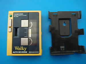 Toshiba KT-AS1 Cassette Player Walky Walkman sony wm Yellow +Clip For Collection