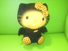 hello kitty halloween orange and black soft toy