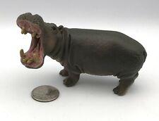 Schleich Hippo Open Mouth Figure Retired 2012 Animal Wildlife Hippopotamus 14681