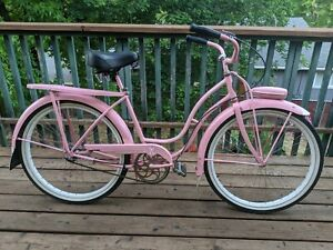 Vtg 1950s 1953 schwinn majestic womens pink pinup mod 3 speed bicycle 50s bike