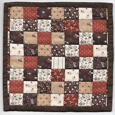 Miniature BROWN PATCHWORK Dollhouse Mini QUILT #6266 Great for OOAK Sculpt Doll