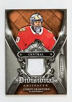 COREY CRAWFORD GAME USED JERSEY CARD UD DIVISIONAL ARTIFACTS CENTRAL BLACKHAWKS