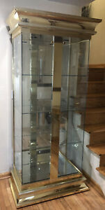 mastercraft brass And Glass Display Cabinet