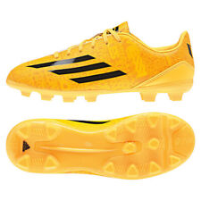 Boys Adidas F10 Messi HG Orange Yellow Football Boots Moulded Studs Kids Junior