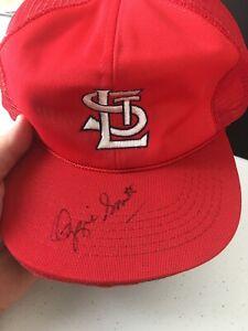 Ozzie Smith SIGNED St. Louis Cardinals Hat Autographed