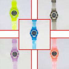Uomo Donna Bambini Digitale ora data Plastica Sport trasparente colorato
