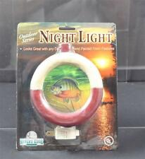 Vintage Rivers Edge Outdoor Series Night Light Fishing Bobber Hand Painted 3D P1