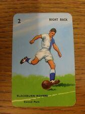 1963 Pepys 'Goal' Card: Blackburn Rovers - 'Ewood Park' Card No.2 Right Back [Fu