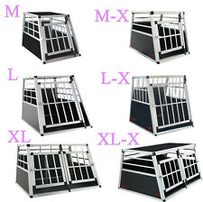 Aluminium Hundetransportbox Hunde transportbox ALU Autotransportbox Neu