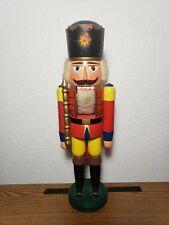 BOX VINTAGE ERZGEBIRGE GERMAN DEM REP WOOD NUTCRACKER SOLDIER W// SWORD IN ORIG