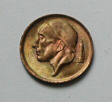 1970 BELGIUM (Belgie) Coin - 50 Centimes - AU++ toned-lustre - mine worker