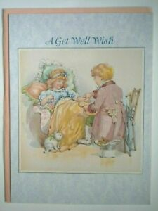 """Leanin' Tree ~ Victorian Gallery ~ """"A GET WELL WISH"""" GREETING CARD + ENVELOPE"""