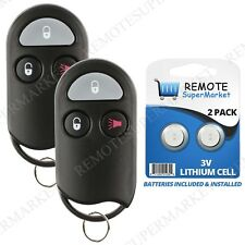 Replacement for Nissan 1998-2000 Frontier 1996-98 Pathfinder Remote Key Fob Pair