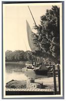 Egypte, Bateaux sur le Canal de Suez  Vintage silver print.  Tirage argentique
