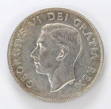1948 Canada Silver Half Dollar George VI Km45 - AU #01282961g
