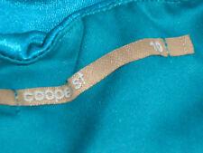 COOPER ST StraplessTurquoiseStretchSatinPartyMini Sz10 EUC