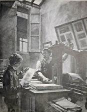 Imprimeur Lienard LEON LHERMITTE Gravure Signée CLEMENT EDOUARD BELLENGER XIX°