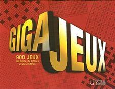 GIGA JEUX : 900 JEUX DE MOTS DE LETTRES ET DE CHIFFRES - MARJOLAINE PAGEAU