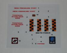 GI Joe Hydro Sled Sticker Decal Sheet