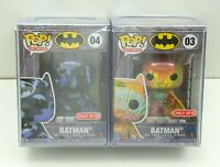 Batman Artist Art Series Funko Pop Lot 03 And 04 Target Exclusive w/ Hard Stack